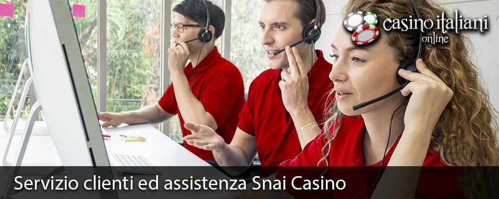 Servizio clienti ed assistenza Snai Casino