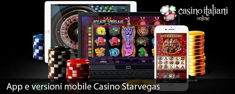 App e versioni mobile Casino Starvegas