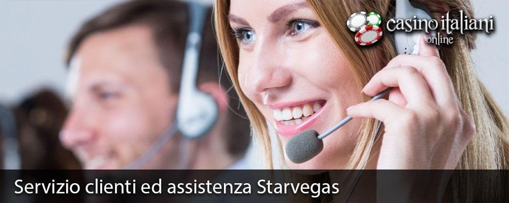 Servizio clienti ed assistenza Starvegas